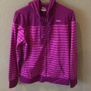 Fila full zip sweatshirt size large